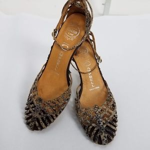 Jeffrey Campbell Strappy Sandals Sz 6 Brown